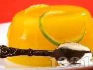Рецепта Портокалово желе с лайм